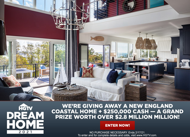 Enter the %23HGTVDreamHome Giveaway for a chance to win a coastal retreat in Rhode Island, plus a new motorhome and $250K cash!