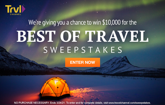 Travel Channel $10,000 Giveaway