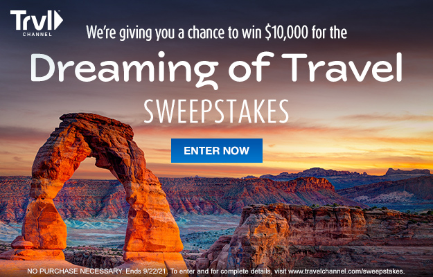 Travel Channel $10,000 Dreaming of Travel Giveaway